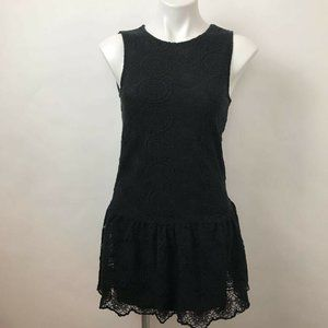 Anthropologie Ella Moss Drop Waist Lace Dress XS